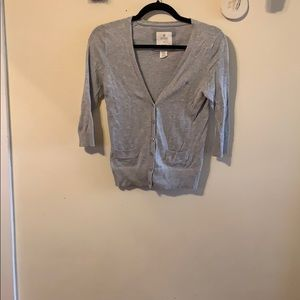 Grey cropped cardigan from Aerie